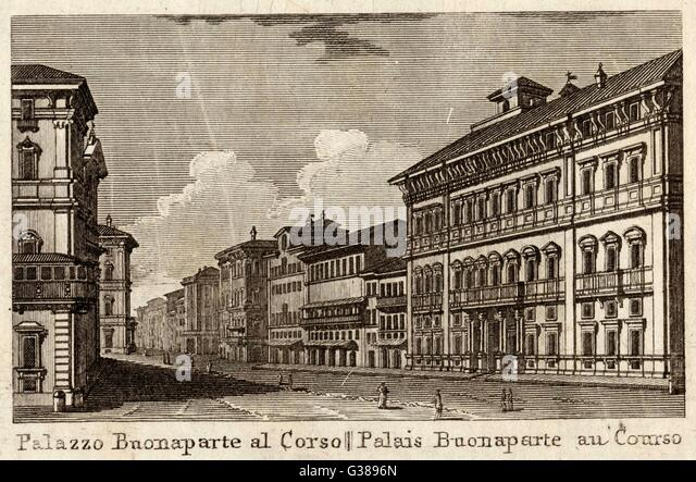 Palazzo bonaparte piazza venezia stock photos palazzo for Corner via del corso roma
