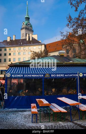 Viktualienmarkt square old town Munich Bavaria Germany Europe - Stock-Bilder