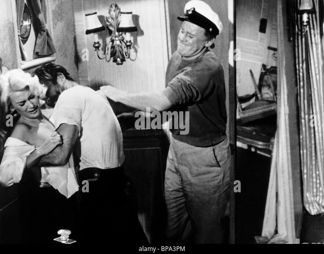 MARTINE CAROL SEAN CONNERY & VAN JOHNSON ACTION OF THE TIGER (1957) - Stock Image