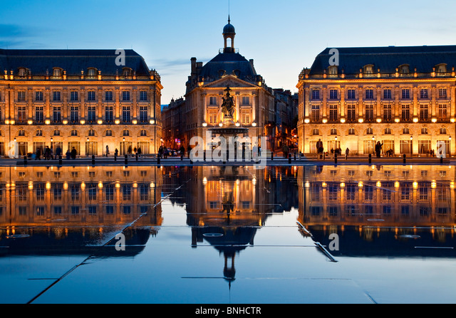 Europe, France, Gironde (33), Bordeaux, Place de la Bourse, Listed as World Heritage By UNESCO - Stock Image