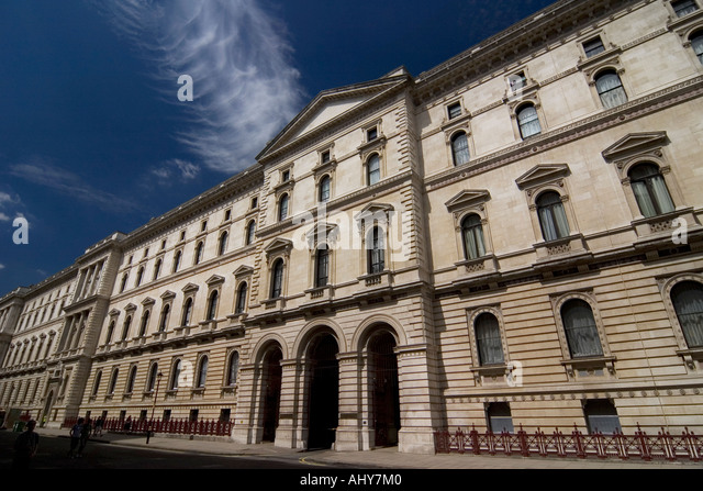 Foreign and Commonwealth Office building off Whitehall London - Stock Image