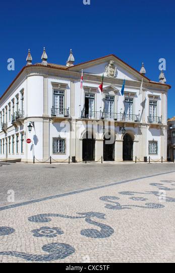 Town Hall, Faro, Algarve, Portugal, Europe - Stock Image