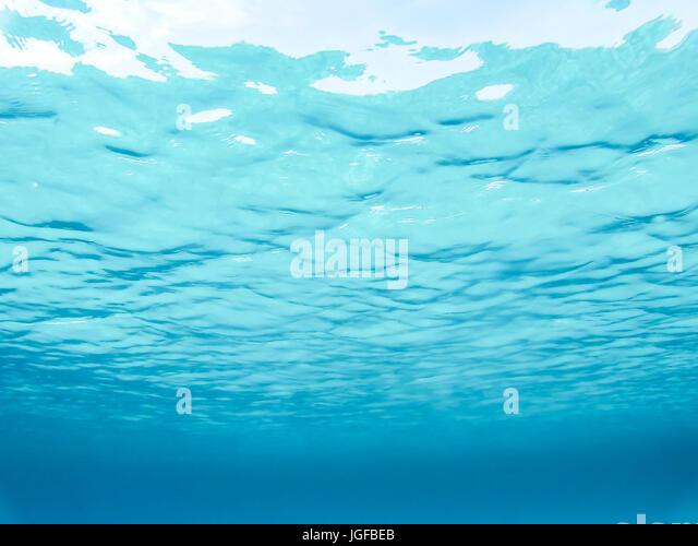 Underwater turquoise sea. Sardinia, Italy. - Stock Image