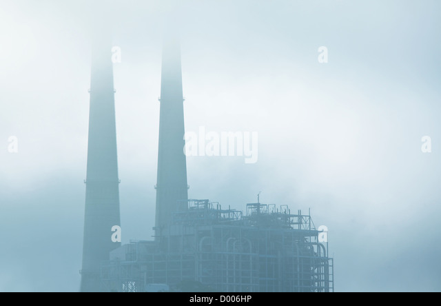 industrial destruction - Stock Image