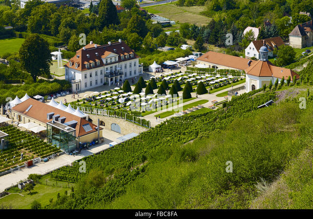 Castle Wackerbarth, Radebeul, Saxony, Germany - Stock Image