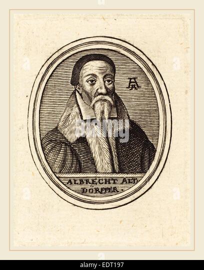 Unknown 16th Century, Albrecht Altdorfer, engraving - Stock Image