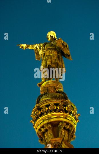 Barcelona Columbus Monument - Stock Image