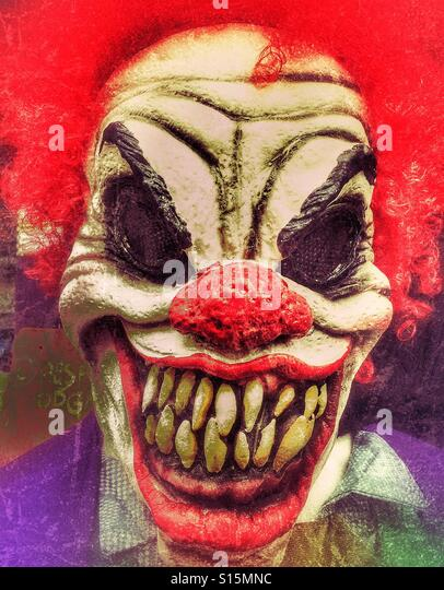 Scary Clown Mask - Stock Image