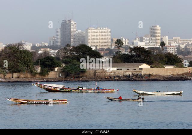 Senegal: skyline of modern Dakar - Stock Image