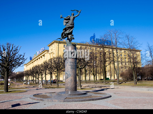 Statue Commemorating Sailors, St Petersburg, Russia - Stock Image