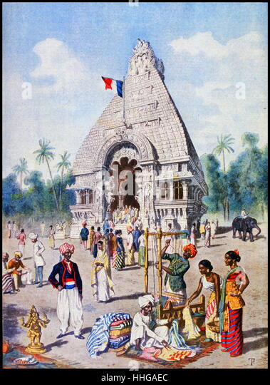 Indian Pavilion at the Exposition Universelle of 1900 - Stock-Bilder