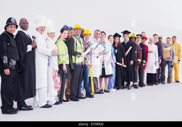 Portrait of diverse workers - Stock Image