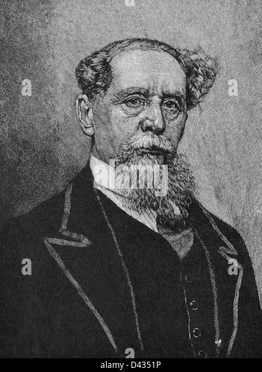Charles Dickens (1812-1870) is one of the best known and most distinguished English novelists. - Stock Image