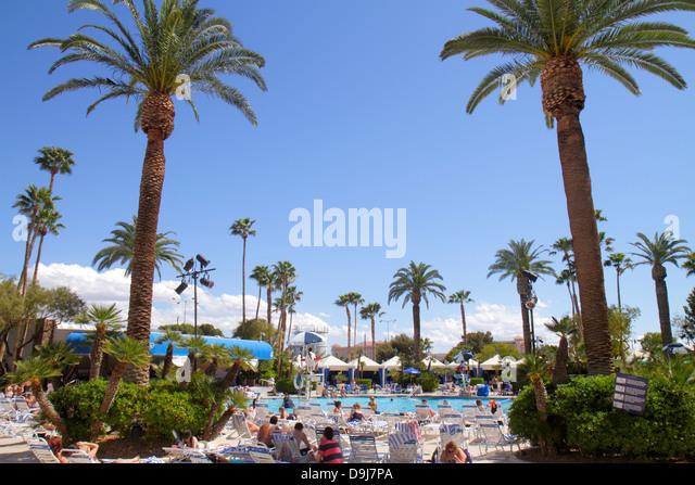 Nevada Las Vegas The Strip South Las Vegas Boulevard Bally's Las Vegas Hotel and Casino swimming pool area royal - Stock Image