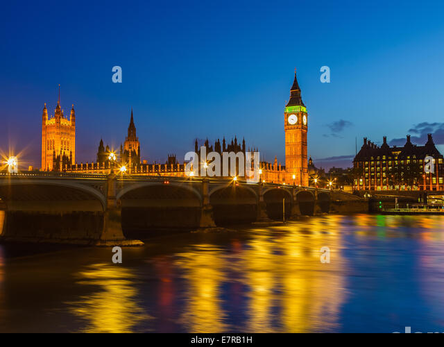 Big Ben at night, London - Stock Image