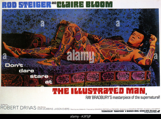 THE ILLUSTRATED MAN poster for 1969 Warner film with Rod Steiger - Stock Image