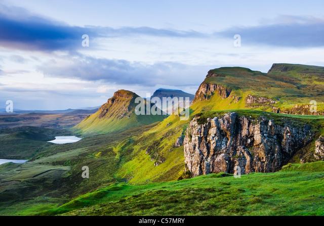 The Quiraing, Isle of Skye, Scotland, UK. - Stock-Bilder
