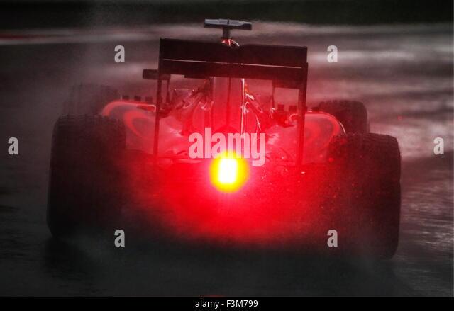 Sochi, Russia. 9th Oct, 2015. Spanish racing driver Fernando Alonso of the McLaren-Honda F1 Team takes part in a - Stock-Bilder