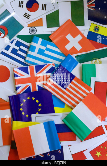 Various national flags - Stock-Bilder