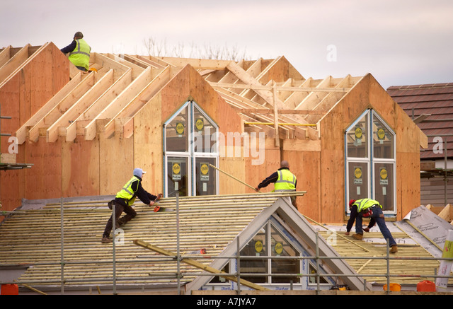 Half Built House Construction Uk Stock Photos Half Built
