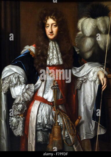 Laurence Hyde, Earl of Rochester (1642-1711). Oil on canvas, about 1685, by Willem Wissing (about 1656-1687) - Stock Image