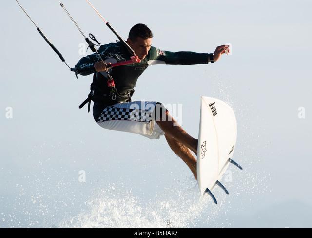 kitesurfer in action - Stock Image