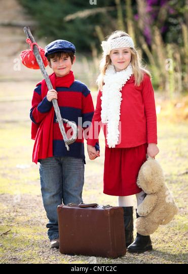 concept for children going on vacation holiday or summer camp - Stock-Bilder
