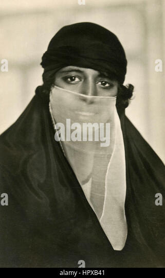 Portrait of an Arabian girl - Stock Image