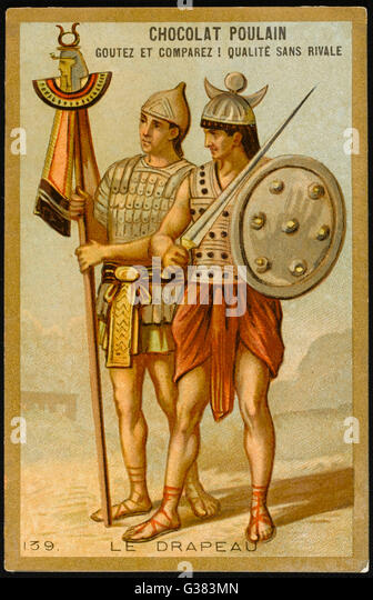 THE FIRST FLAGS standards of the Roman legions - Stock-Bilder