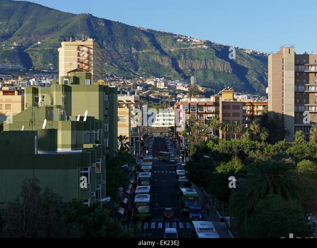 Puerto de la Cruz Tenerife island Canary islands Spain - Stock-Bilder