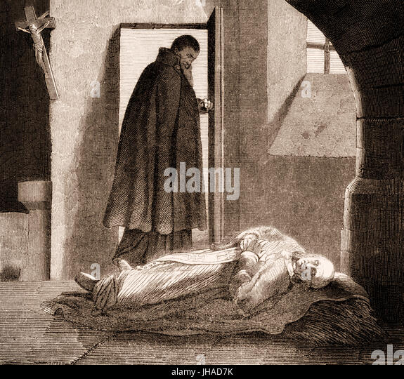 Pope Leo V, imprisoned an murdered by Christopher, the Cardinal-priest of San Lorenzo in Damaso - Stock Image