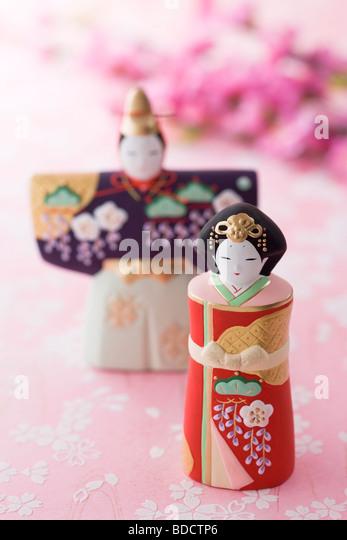 Japanese hinamatsuri doll - Stock-Bilder