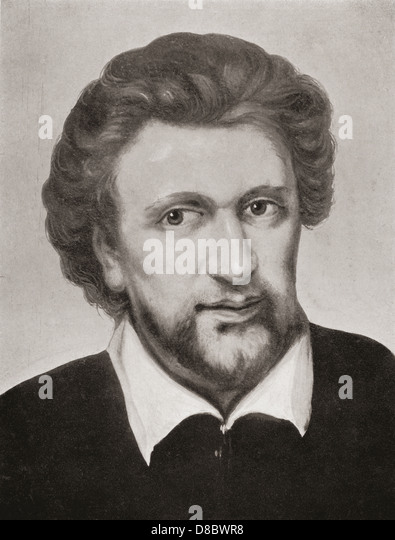 Benjamin 'Ben' Jonson, c.1572 – 1637. English Renaissance dramatist, poet and actor. - Stock Image