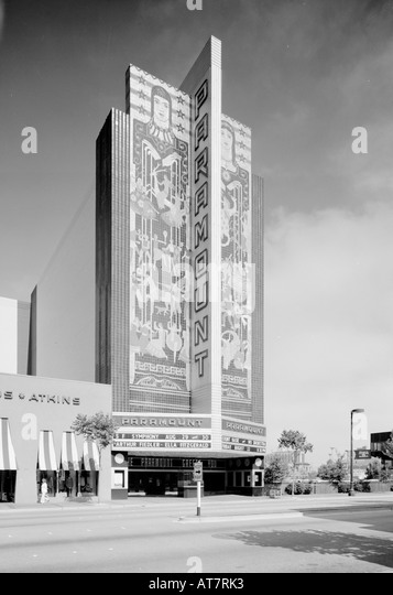 Archival photo of The Paramount Theater in Oakland, California. - Stock Image