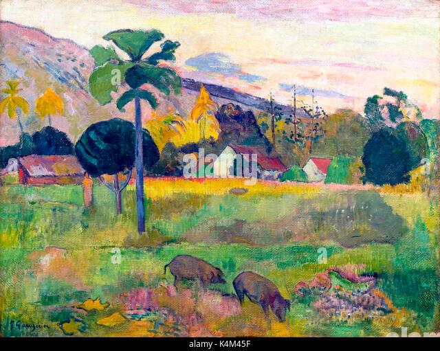 Haere Mai, by Paul Gauguin, 1893, Solomon R. Guggenheim Museum, Manhattan, New York City, USA, North America - Stock Image