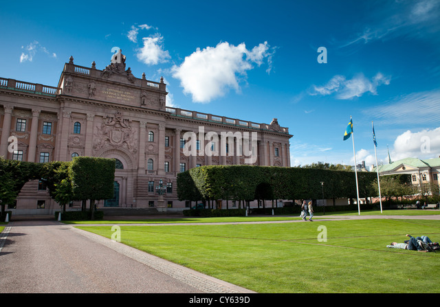 Editorial ** Stockholm, Sweden - Sep 12, 2012: Swedish Parliament building (Sveriges Riksdag) - Stock Image