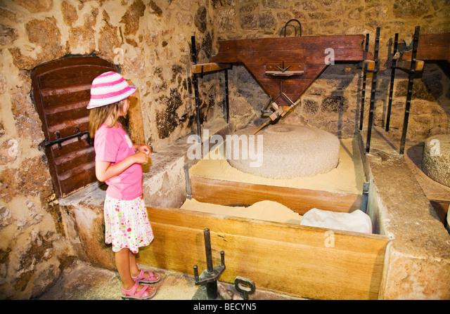 Watermill, Ethno-Museum, Krka National Park, Dalmatia, Croatia, Europe - Stock-Bilder