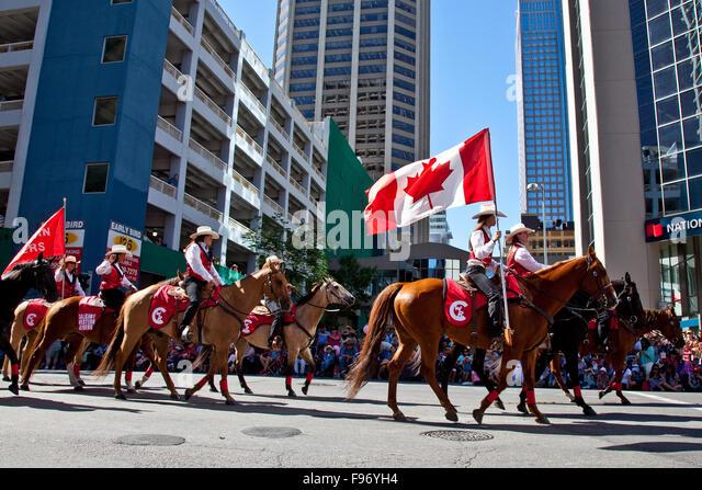 2015 Calgary Stampede Parade, Calgary, Alberta, Canada - Stock Image