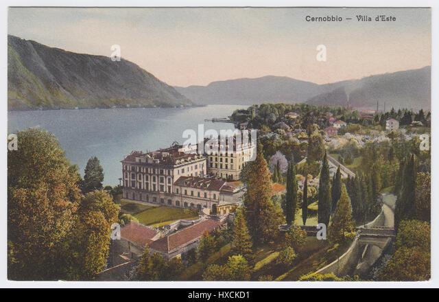 Villa d'Este & Lake Como, Cernobbio, Italy - Stock Image