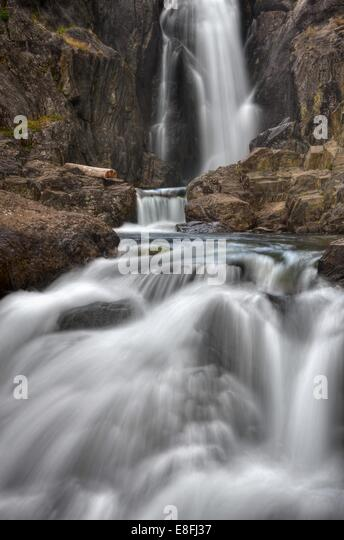 USA, California, Inyo National Forest, Shadow Creek Falls - Stock Image