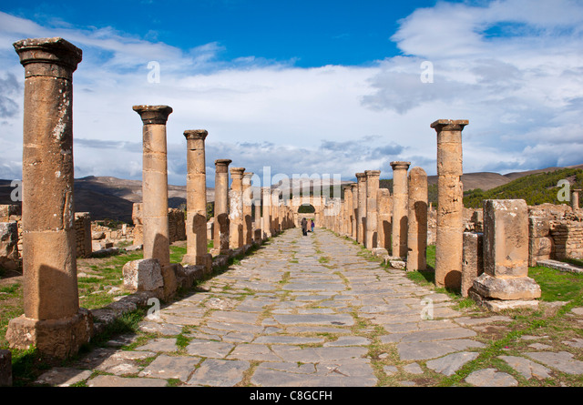 The Roman ruins of Djemila, UNESCO World Heritage Site, Algeria, North Africa - Stock Image