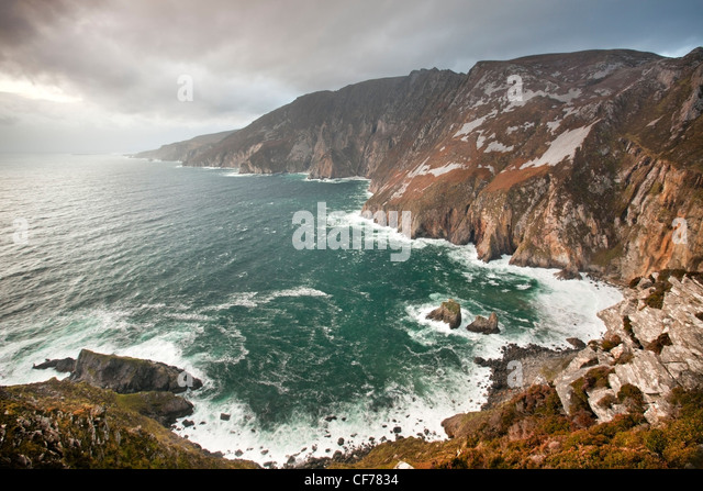 Slieve League cliffs, situated on the West coast of Donegal - Stock-Bilder