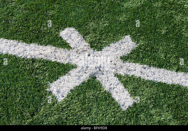 Detail of American Football Ground - Stock Image