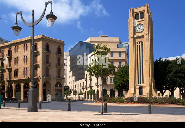 Lebanese House of Speakers in the restored Downtown district of Beirut - Stock Image