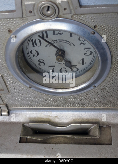 Nation Time Clock Clocking In Machine TimeClock - Stock Image