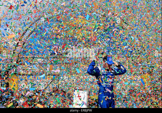 Dover, DE, USA. 31st May, 2015. Dover, DE - May 31, 2015: Jimmie Johnson (48) wins the FedEx 400 benefiting Autism - Stock-Bilder