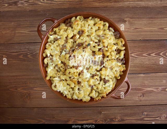 baked pasta casserole - Stock Image