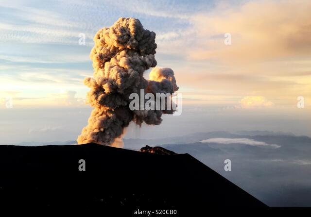 Semeru Explosion - Stock Image