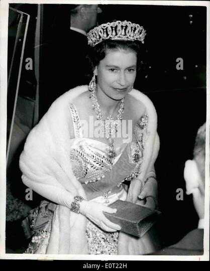 Jul. 07, 1960 - Royals Attend Dinner At The Thai Embassy; The king and Queen of Siam last night entertained Queen - Stock Image