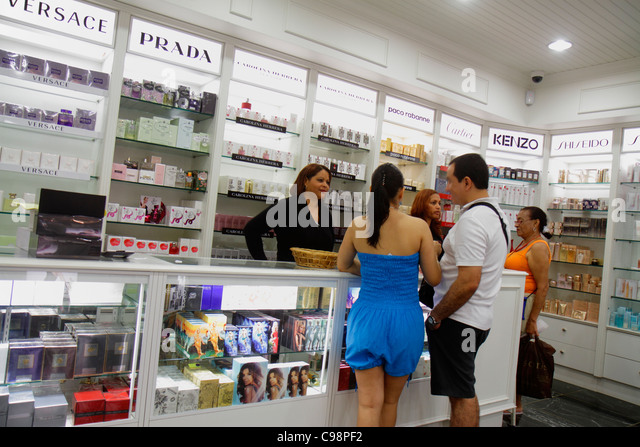 Curaçao Netherlands Antilles Dutch Willemstad Punda Heerenstraat Penha Perfumes & and Cosmetics shopping - Stock Image
